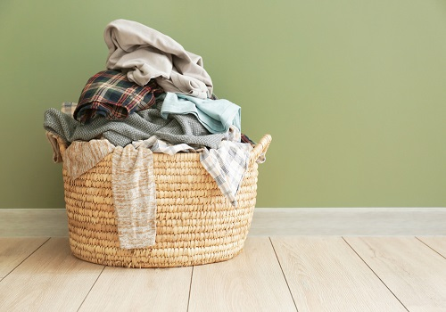 dirty laundry on the floor