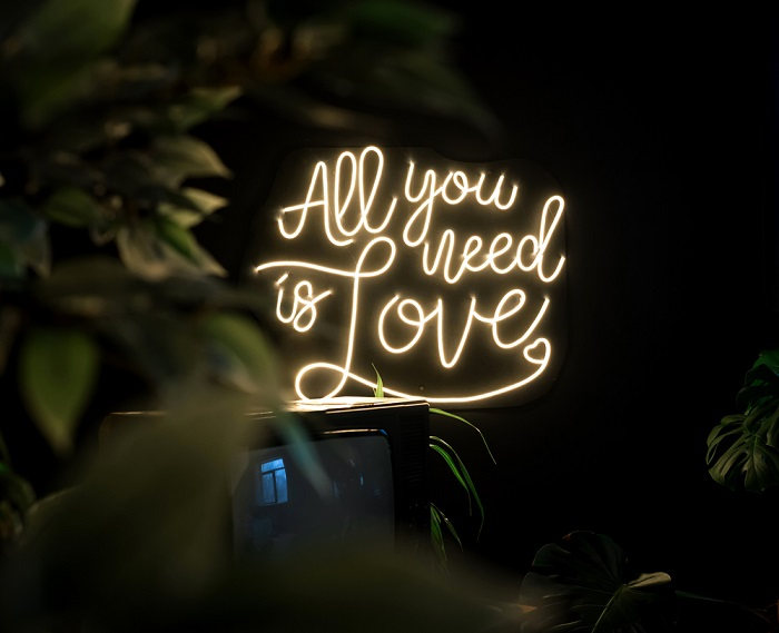 all you need is love neon decoration
