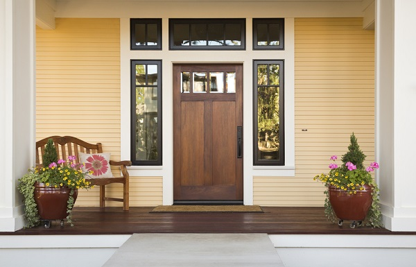 newly painted front porch